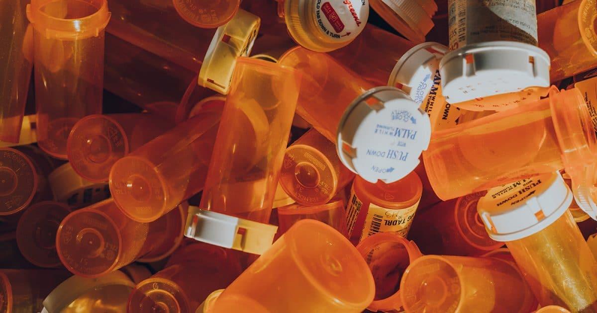 Orange pill bottles