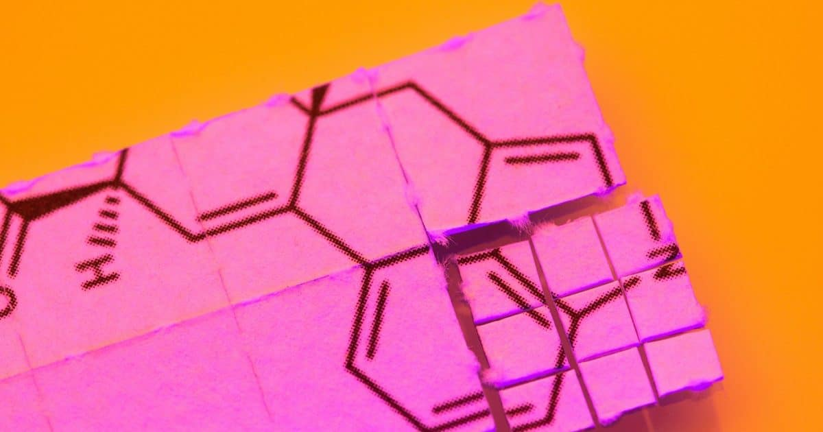 DoubleBlind: Image of tabs of acid. In this article, DoubleBlind explores how LSD is made.