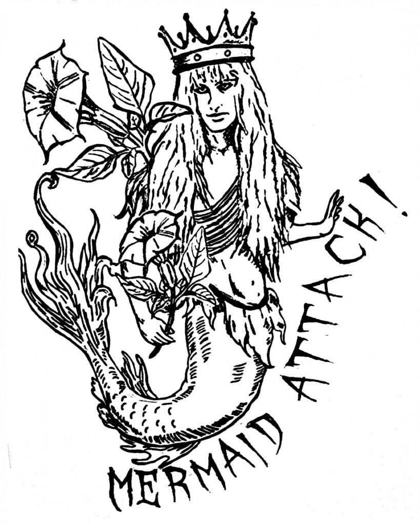 DoubleBlind: Illustration of mermaid by Bett Williams.