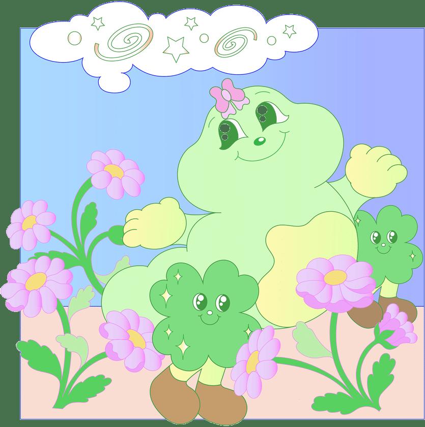 Illustration of happy caterpillar
