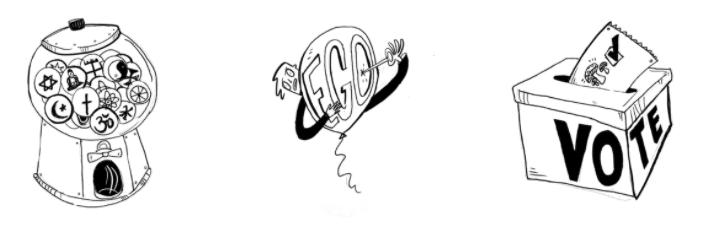gum-ball machine ego vote