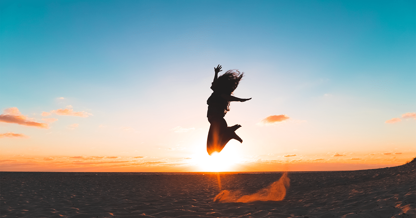 person jumping in air
