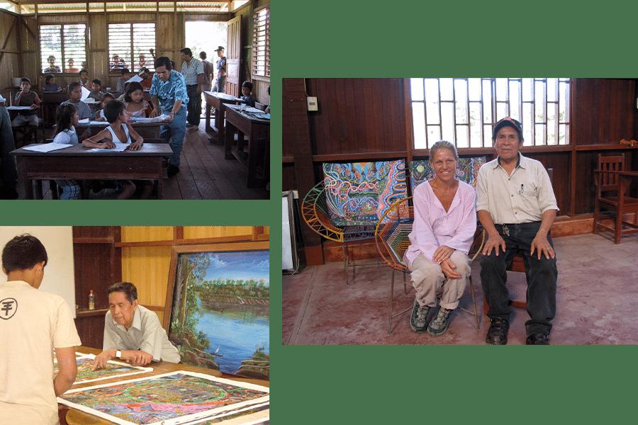 various photos of Pablo Amaringo