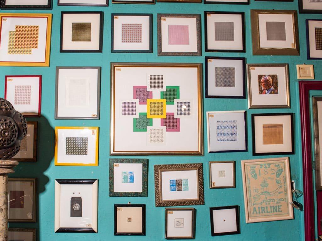 picture frames of acid tabs